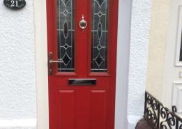red comp door